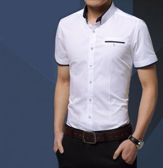 Pánská košile s krátkým rukávem Barva: bílá, Velikost: XS