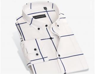 Pánská košile s pruhy - 3 barvy Barva: bílá, Velikost: XXS