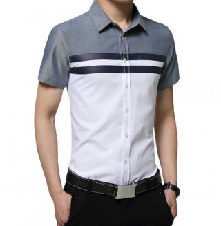 Pánská košile s pruhy Barva: bílá, Velikost: XS