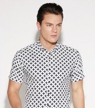 Pánská košile se vzorem A1465 Velikost: XXS, Varianta: 1