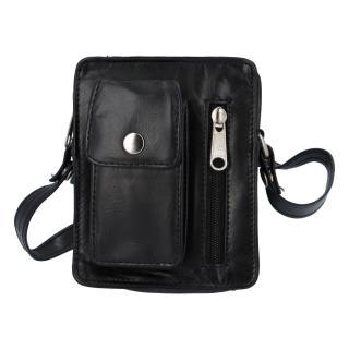 Pánská kožená kapsa na doklady černá - Tomas Furry pánské