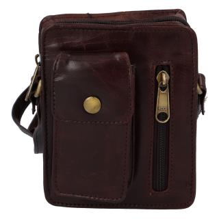 Pánská kožená kapsa na doklady červenohnědá - Tomas Furry pánské