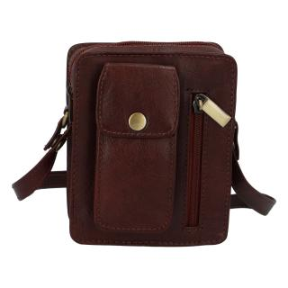 Pánská kožená kapsa na doklady hnědá - Tomas Furry pánské