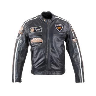 Pánská Kožená Moto Bunda W-Tec Black Cracker  Černá  Xxl XXL