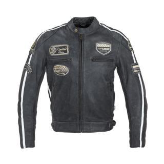 Pánská Kožená Moto Bunda W-Tec Dark Grey Vintage  Tmavě Šedá  M M