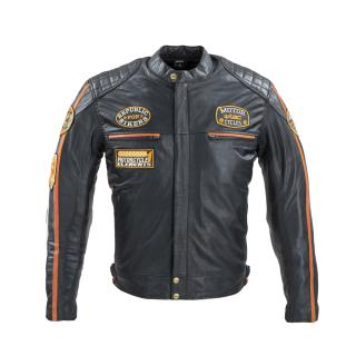 Pánská Kožená Moto Bunda W-Tec Sheawen Antique  Černá  Xl XL