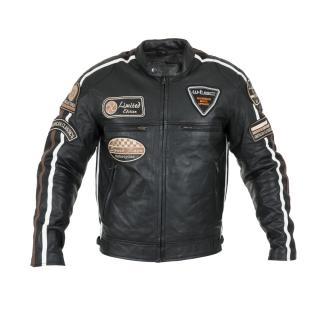 Pánská Kožená Moto Bunda W-Tec Sheawen Black  Černá  S S