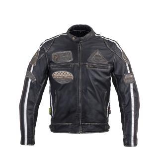 Pánská Kožená Moto Bunda W-Tec Sheawen Vintage  Černá  M M