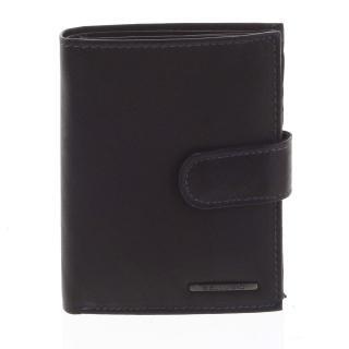 Pánská kožená peněženka černo modrá - Bellugio Palaemon pánské