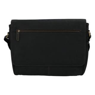 Pánská kožená taška černá - Tomas Woodoo Two pánské