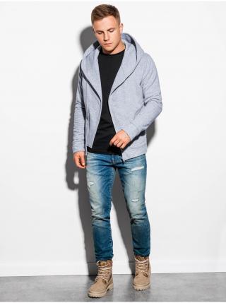 Pánská mikina na zip s kapucí PRIMO - šedá pánské M
