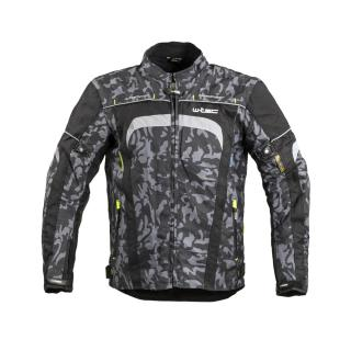 Pánská Moto Bunda W-Tec Torebaro  S  Black-Grey Digi-Camo S
