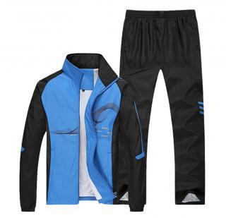 Pánská sportovní souprava - 4 barvy Barva: modrá, Velikost: S