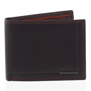 Pánská volná prošívaná peněženka černá - Bellugio Pann pánské