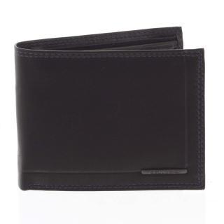 Pánská volná prošívaná peněženka černo modrá - Bellugio Pann pánské