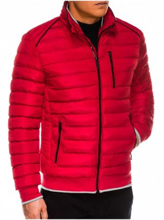 Pánská zimní prošívaná bunda C422 - červená pánské M