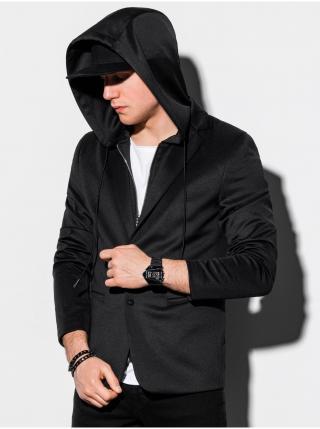 Pánské casual sako s kapucí M156 - černá pánské S