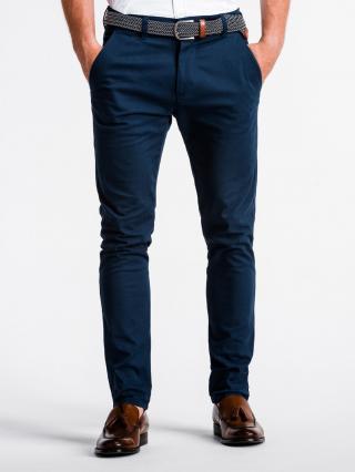 Pánské kalhoty Ombre Chinos pánské Navy XXL