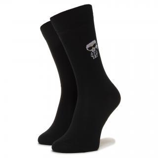 Pánské klasické ponožky KARL LAGERFELD - 805504 501102 990 Černá 39/42