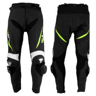 Pánské Kožené Moto Kalhoty W-Tec Vector  Černá-Fluo  2Xl 2XL