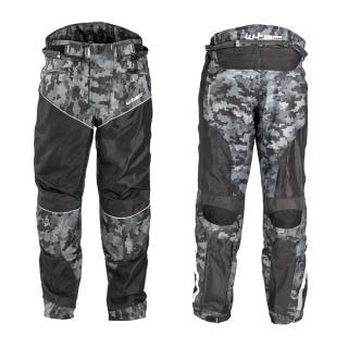 Pánské Letní Moto Kalhoty W-Tec Jori  Black-Grey Digi-Camo  L L