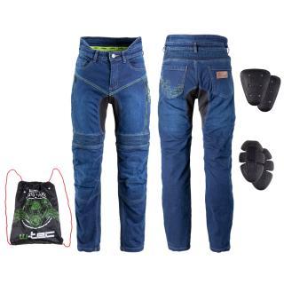Pánské Moto Jeansy W-Tec Biterillo  S  Modrá S