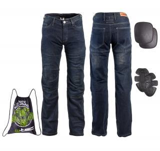 Pánské Moto Jeansy W-Tec Pawted  Tmavě Modrá  S S
