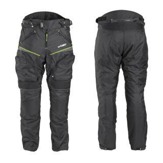 Pánské Moto Kalhoty W-Tec Propant  Černá-Fluo Žlutá  M M