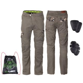 Pánské Moto Kalhoty W-Tec Shoota  Olivově Zelená  S S