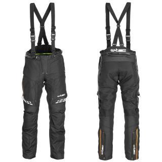 Pánské Moto Kalhoty W-Tec Spirital  Černo-Oranžová  S S