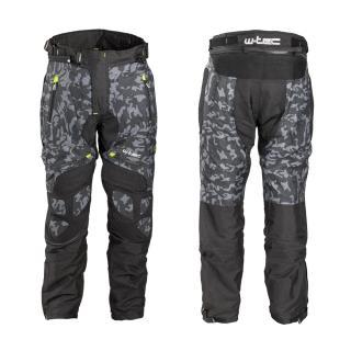 Pánské Moto Kalhoty W-Tec Toregate  Black-Grey Digi-Camo  L L