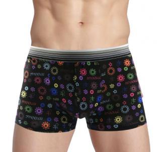 Pánské stylové boxerky s barevným potiskem Velikost: XS