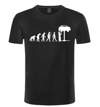 Pánské tričko - Evoluce automechanika - 8 barev Barva: černá, Velikost: XS