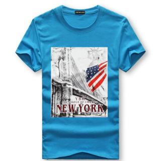 Pánské tričko s potiskem Valdor - modré