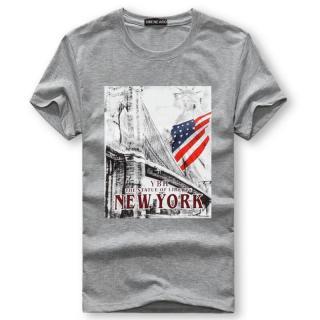Pánské tričko s potiskem Valdor - šedé
