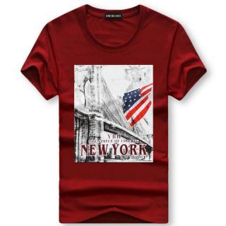 Pánské tričko s potiskem Valdor - tmavě červené