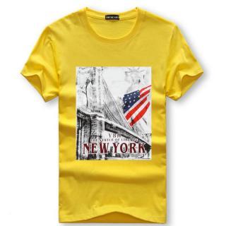 Pánské tričko s potiskem Valdor - žluté