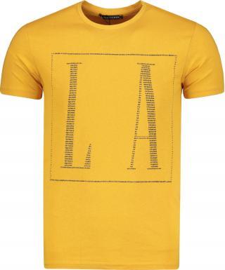 Pánské tričko Trendyol Basic pánské Mustard XL