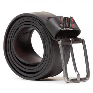 Pánský pásek U.S. POLO ASSN. - Lake Worth Mens Belt Leather WEUW12233MHA511 Dark Brown Šedá 95