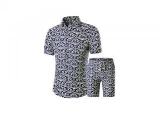Pánský set - Košile a kraťasy se vzorem Velikost: XS