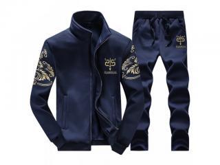 Pánský set - Mikina a kalhoty - 3 barvy Barva: tmavě modrá, Velikost: XS
