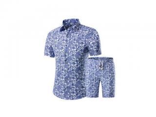Pánský set se vzorem - Košile a kraťasy Velikost: XS
