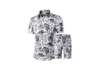 Pánský stylový set - Košile a kraťasy Velikost: XS