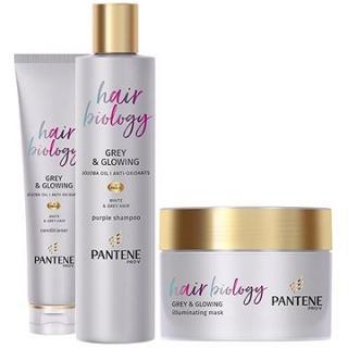 PANTENE Hair Biology Grey & Glowing Sada 570 ml