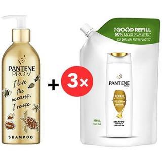 PANTENE Pro-V Repair & Protect Šampon ECO REUSE hliníková láhev 430 ml   Náhradní náplň 3 × 480 ml