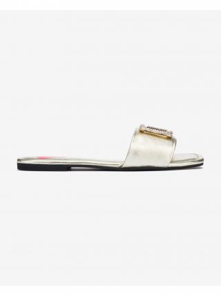 Pantofle Love Moschino dámské zlatá 40