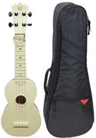 Pasadena WU-21WH SET Sopránové ukulele Bílá White Soprano Ukulele