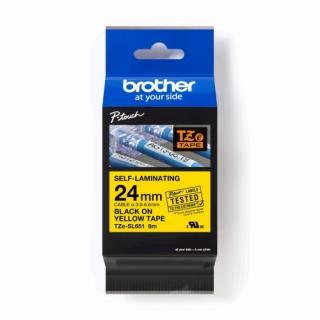 Páska Brother ProTape TZE-SL651 samolaminovací žlutá/černá 24mm 8m