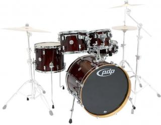 PDP by DW Concept Maple 5 Pc Shell Set Transparent Cherry 20 Wine Red