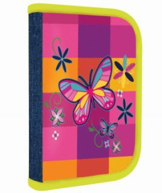 Penál 1 p. s chlopní naplněný Motýl